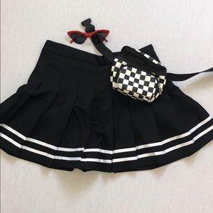 Black High waisted tennis skirt NEW!